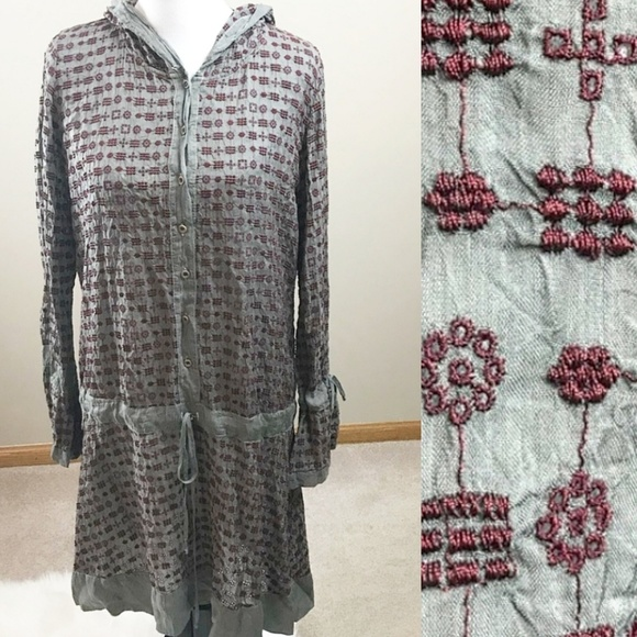 Johnny Was Dresses & Skirts - Johnny Was Dress Midi Embroidered Boho